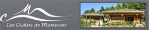 Partenaire de Caro Broderie : Les chalets de Maramour Parc du cheval CHAZEY sur AIN 01150