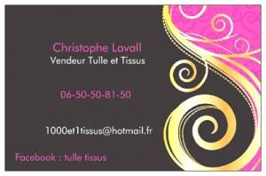 Partenaires de Caro Broderie : Christophe Lavall. 1000 et 1 tissus. LOYETTES 01360