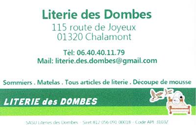 Partenaire de Caro Broderie : Literie des dombes. CHALAMONT 01320